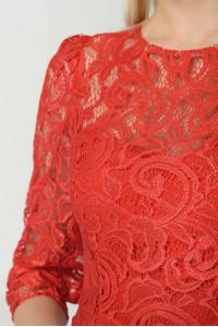 Платье «Анета» красного цвета