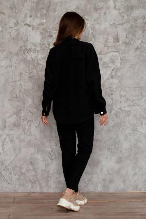 Сорочка «Євдокія» чорного кольору