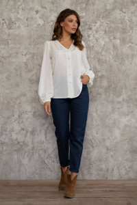 Блуза «Інга» білого кольору