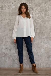 Блуза «Инга» белого цвета