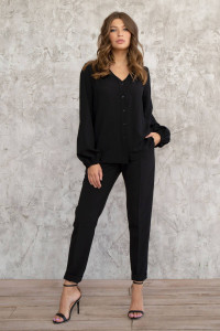 Блуза «Инга» черного цвета