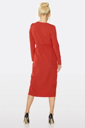 Платье «Агафия» красного цвета