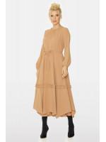Платье «Будана» бежевого цвета
