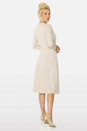 Платье «Биляна» бежевого цвета