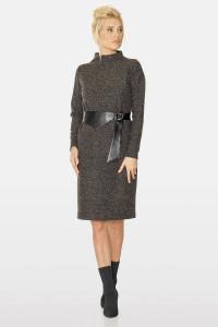 Платье «Джули» коричневого цвета