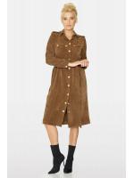 Платье «Орися» коричневого цвета