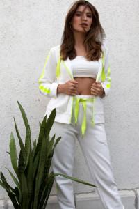 Спортивні штани «Кендра» білого кольору