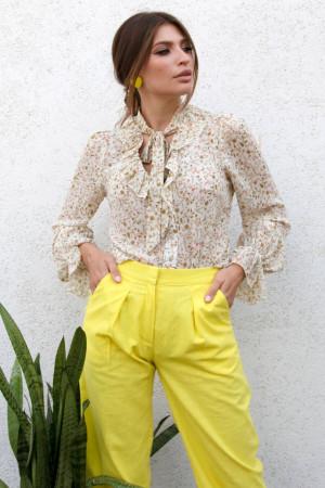 Блуза «Синди» бежевого цвета