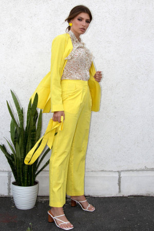 Брюки «Анета» жовтого кольору