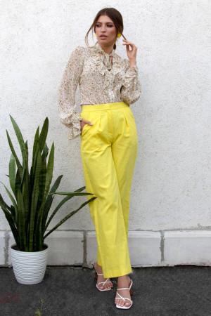 Брюки «Анета» желтого цвета