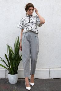 Блуза «Сальма» білого кольору