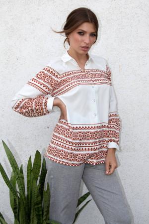 Блуза «Мар'яна» білого кольору