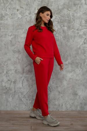 Спортивный костюм «Клариса» красного цвета