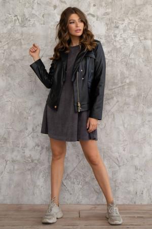 Куртка-косуха «Ксана» чорного кольору