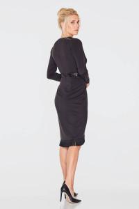 Платье «Листри» черного цвета