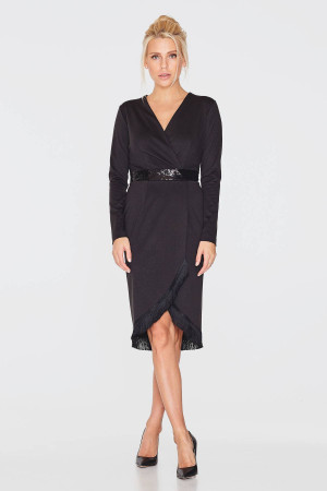 Сукня «Лістрі» чорного кольору