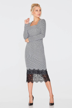 Платье «Биани» серого цвета