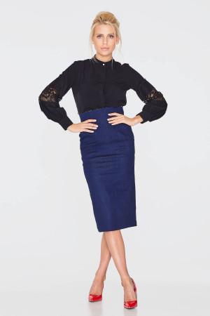 Блуза «Камилла» черного цвета