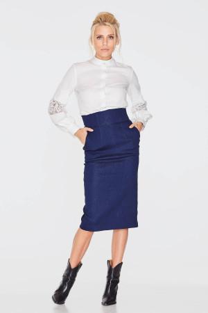 Блуза «Камилла» белого цвета