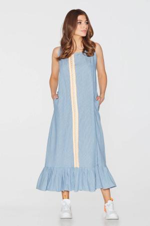 Платье «Петра» голубого цвета