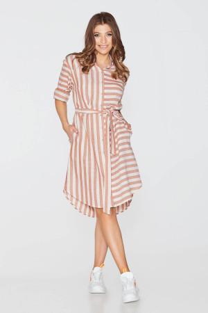 Платье «Виста» терракотового цвета