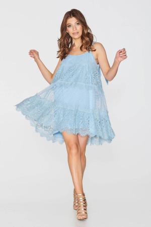 Платье «Альба» голубого цвета