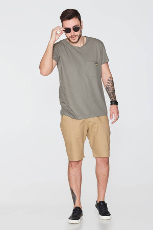 Мужские шорты «Тирт» цвета горчицы