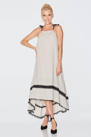 Платье «Рогнида» бежевого цвета