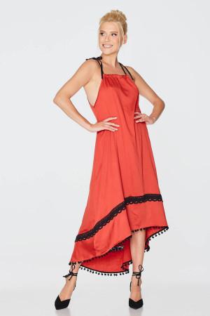 Сукня «Рогніда» червоного кольору