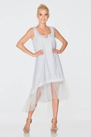 Платье «Неля» серого цвета