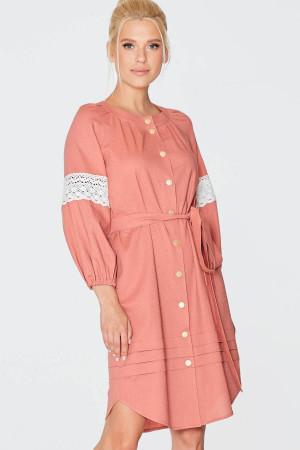 Платье «Фаина» терракотового цвета
