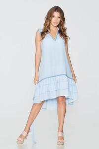 Платье «Агния» голубого цвета