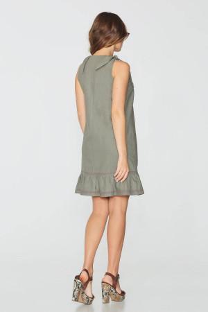 Платье «Харитя» цвета хаки