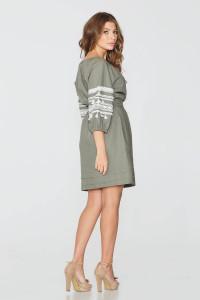 Платье «Оксана» цвета хаки