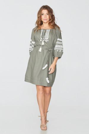 Сукня «Оксана» кольору хакі