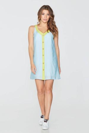 Платье «Вера» голубого цвета