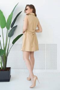 Платье «Бросса» бежевого цвета