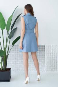Платье «Бросса» голубого цвета