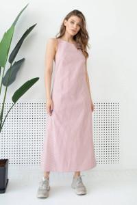 Сарафан «Мариз» розового цвета в полоску