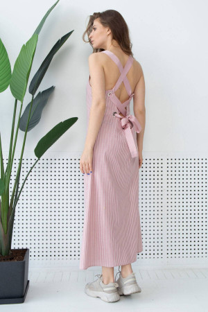 Сарафан «Маріз» рожевого кольору у смужку