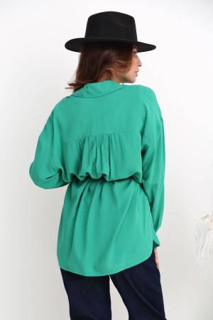 Рубашка «Минерва» зеленого цвета