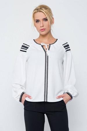 Блуза «Стефа» білого кольору