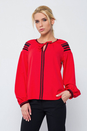 Блуза «Стефа» червоного кольору