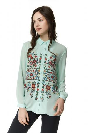 Блуза «Весенняя мелодия» мятного цвета