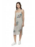 Платье «Хрупкость» серого цвета