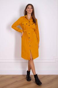 Платье «Таска» цвета горчицы