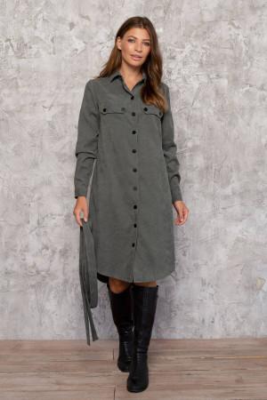 Платье «Таска» оливкового цвета