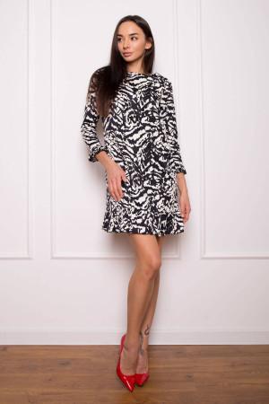 Платье «Сабина» с черно-белым принтом