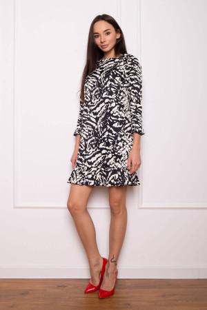 Сукня «Сабіна» з чорно-білим принтом