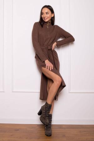 Платье «Фибби» коричневого цвета